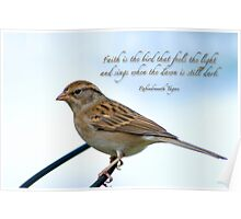 Faith is the bird . . . Poster