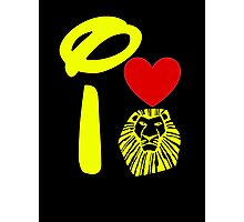 I Heart The Lion King (Gold) Photographic Print