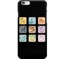 Origami Eeveelutions in Squares iPhone Case/Skin