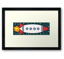 Retro Rocket - Red, White & Blue Framed Print