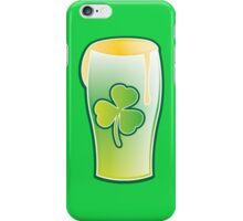 Green shamrock Irish Pint of beer iPhone Case/Skin