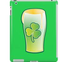 Green shamrock Irish Pint of beer iPad Case/Skin