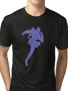 Captain Falcon silhouette  Tri-blend T-Shirt