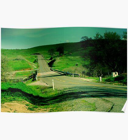 Hidden's Winding Valley Roads Poster