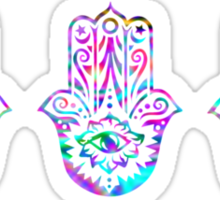Triple Rainbow Hamsa Sticker