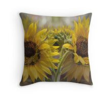 Mirage of the sunflowers Throw Pillow