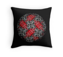 GLOBAL, red white and black, abstract, geometrics Throw Pillow