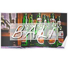 Bali Bintang Typography Print Poster
