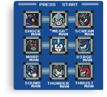 Transformers Megaman Style Design (Decepticon) Canvas Print