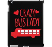 Crazy Bus Lady with red bus iPad Case/Skin