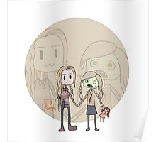 The Walking Dead Lizzie and Mika Poster