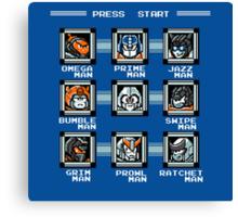 Transformers Megaman Style Design (Autobot) Canvas Print