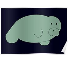 Man Oh Manatee Poster
