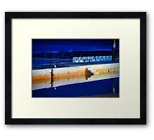 Sunrise - Merewether Baths Framed Print