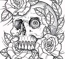 skull rose by Aaron Prosser