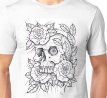 skull rose Unisex T-Shirt