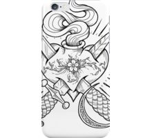 dagger heart iPhone Case/Skin