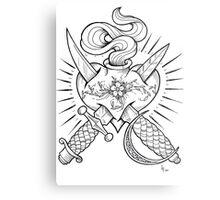 dagger heart Metal Print