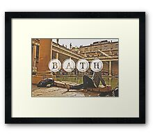 Bath Typography Print Framed Print