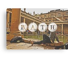 Bath Typography Print Canvas Print