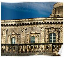 Windows of the Benedettini convent in Catania  Poster