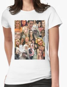 Famous Failures Collage Womens Fitted T-Shirt