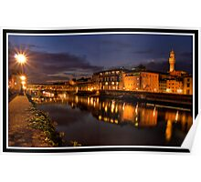 Ponte Vecchio at night Poster