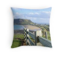 Stanley and the NUT - Tasmania - viewed from near Highfield House Throw Pillow