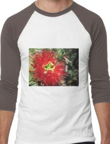 Bottle brush flower Men's Baseball ¾ T-Shirt