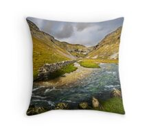 Valley Below Gordale Scar Throw Pillow