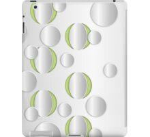 Circles on a metal iPad Case/Skin