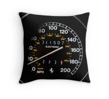 1995 Ferrari F355 Spider Heart Rate - Speedometer Throw Pillow