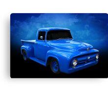Blue F Truck Canvas Print