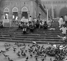 Evening at the Mecca Masjid in Hyderabad by nisheedhi