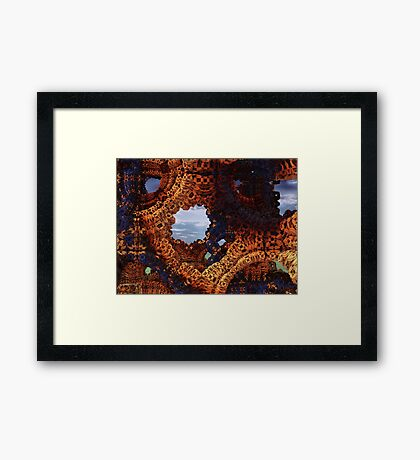 Holes Back To Reality Framed Print