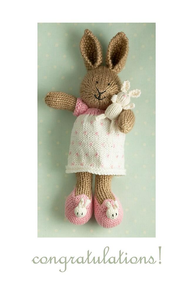 congratulations (featuring Honey & Pip) by bunnyknitter