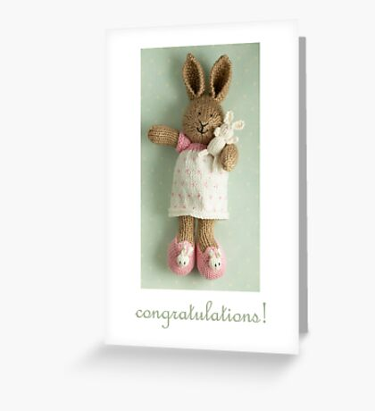 congratulations (featuring Honey & Pip) Greeting Card