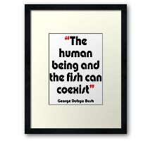 'Fishy coexistence' - from the surreal George Dubya Bush series Framed Print