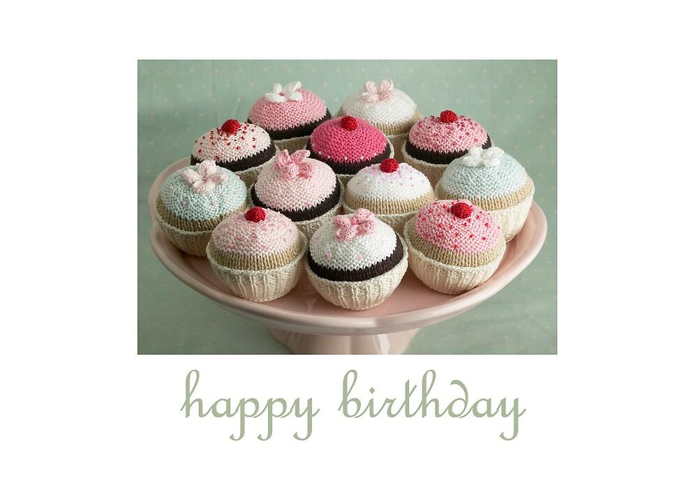 birthday cupcakes by bunnyknitter