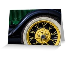 Model A Curves Greeting Card