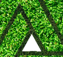 Grass Triangle Illusion Sticker