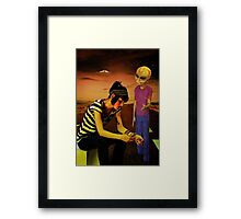 need a lift? Framed Print