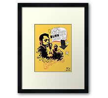 New James Baldwin (now with more 'tude) Framed Print