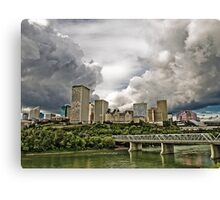 Summer Storm Over Edmonton Canvas Print