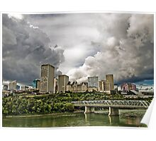 Summer Storm Over Edmonton Poster