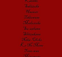 The Menu (Hannibal Season 2 Episode List) by theseRmyDesigns