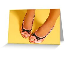 Pink Shoes Greeting Card