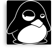 TUX Penguin in a bad mood, LINUX  Canvas Print