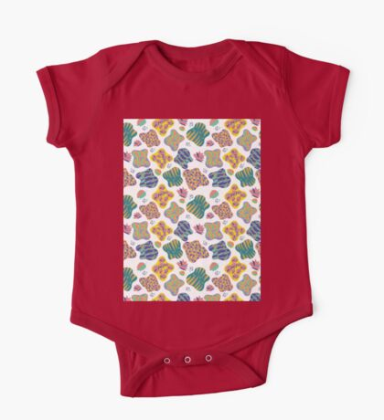 Colorful leaves One Piece - Short Sleeve