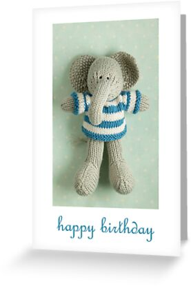 Edgar birthday by bunnyknitter